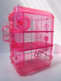 Large Hamster Cage - Fantazia 3 storey pink RRP £34.99