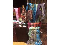 Brand New Scarves and Sarongs in packaging
