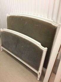 ANTIQUE FRENCH DOUBLE BED FRAME - EASY UPHOLSTERY PROJECT
