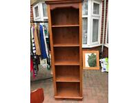 Solid pine tall shelving unit