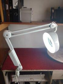 Angle Poise Magnifying Lamp 240v