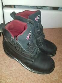 Work steel cap boots size 10