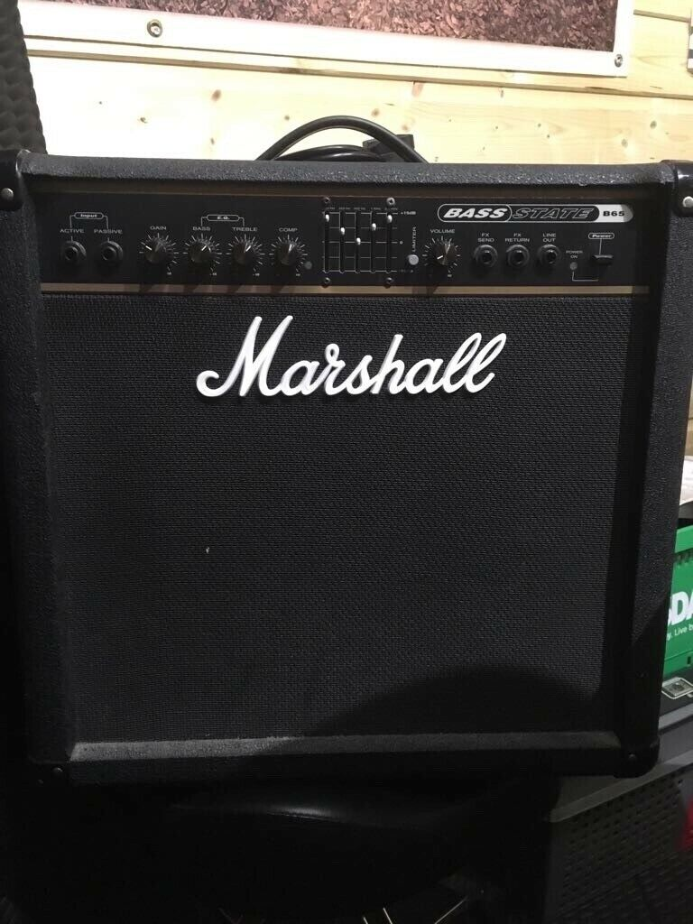 marshall solid state 65w bass amp in lee on the solent hampshire gumtree. Black Bedroom Furniture Sets. Home Design Ideas