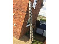 Large aluminium ladder