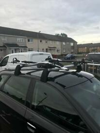 Audi Roof bars and two cycle carriers