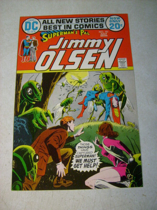 SUPERMANS PAL JIMMY OLSEN #151 COVER ART original cover proof 1970