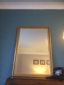 Beautiful gold mirror Bevelled glass