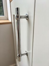 Silver kitchen cupboard handles