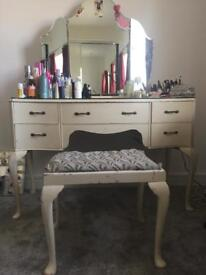 Vintage wrighton dressing table and chest of drawers.