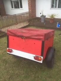 4x3 trailer with lift out rear and waterproof cover need gone asap