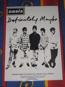 Oasis - Definitely Maybe -  Laminated Promo Poster