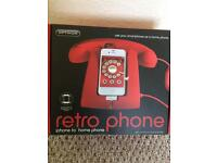 Retro phone for use with iPhone