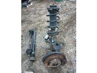 vw golf mk5 1.6 fsi shock,hub,bearnings calliper,wishbone,drive shafts supply and fit call parts