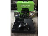 X box one 500gb, boxed + 2 games