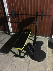 Like New Everlast Bench with 50kg Weights Set. Can Deliver