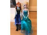 Frozen Disney Store singing dolls