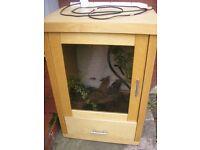 Reptile unit cabinet house ( Lizard snake