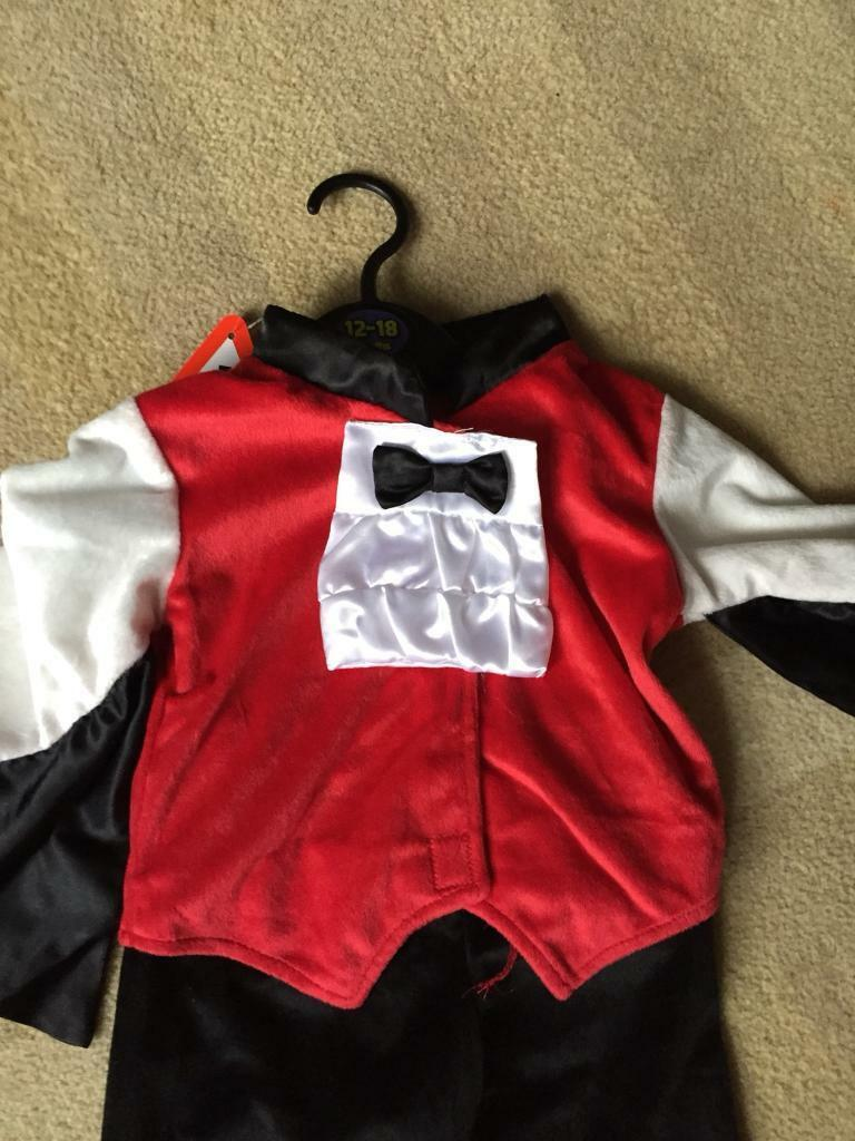 12-18 months Dracula Halloween outfit dress up