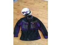 Lookwell motorcycle jacket with matching helmet