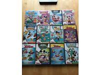 12 Disney Junior DVD's