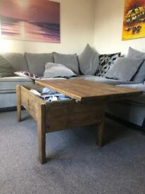BESPOKE HANDMADE SET OF 3 - COFFEE TABLE, TV STAND AND STORAGE UNIT