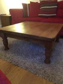 Solid Pine Wood Coffee Table - In Excellent Condition!!