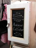 White vintage wall mounted cabinet