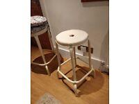 Retro style beige stools X 2 from IKEA