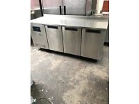 Foster 3 doors bench fridge, commercial catering fridge