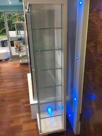 Glass cabinets x 2
