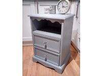 Shabby Chic Solid Pine Bedside Cabinet