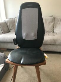 This chair has 3 options (lower back only, shoulders only and full back), it can also be heated.