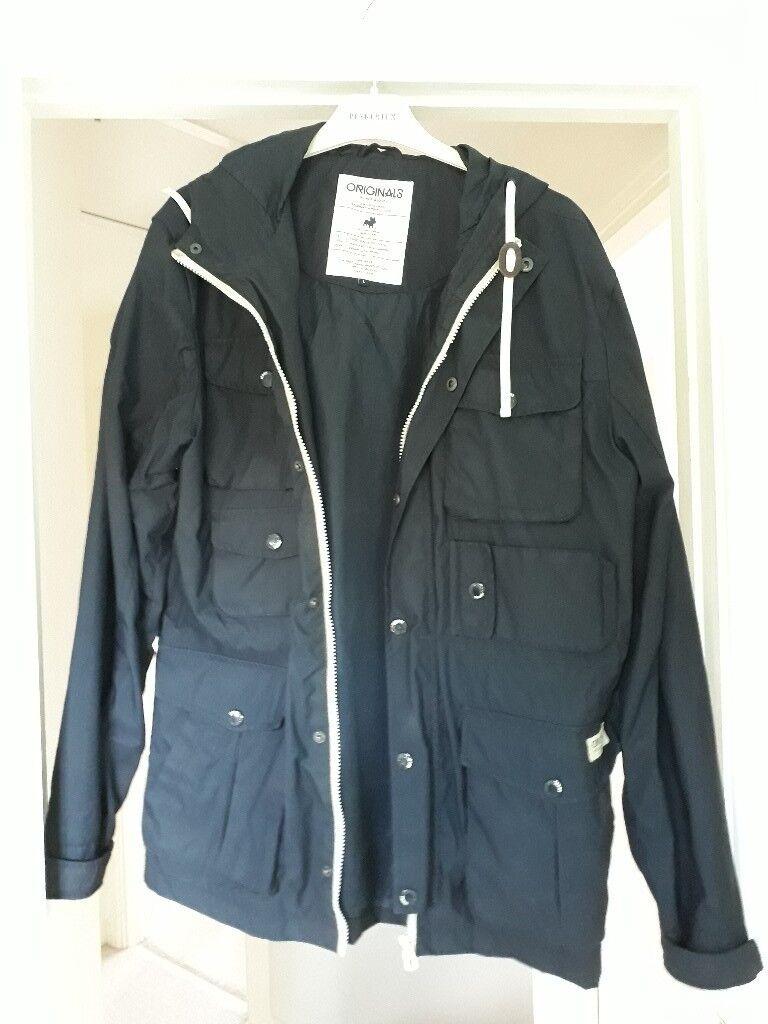 Mens large navy Jack&Jones coat