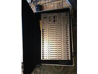 Behringer Euro desk 24 mixing desk and gator flight case