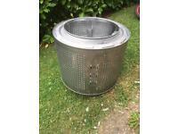 Firepit old washing machine drum