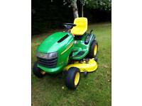 "John Deere ride on lawnmower / tractor mower 24hp 48"" deck"