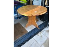 Drop Leaf Pine Dining Table