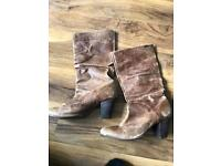 Firetrap distressed tan leather boots size 7