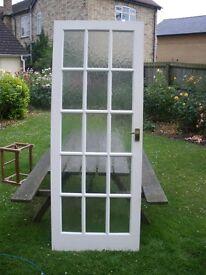 3 x internal white painted glazed door plus brass handles