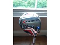 New, unused 3 and 5 wood Big Bertha golf clubs mid / low torgue 70 regular, covers included