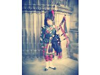 Highland Piper Available for Weddings, Parties, Burns' Suppers, Corporate Events or Reunions.