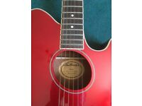 Ibanez TCY10 Talman Acoustic-Electric Guitar (Metallic Red)