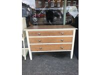 vintage chest of drawers oak 3 draw chest