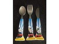 Thomas the tank engine knife, fork and spoon set