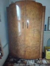 Antique Veneer Wardrobe