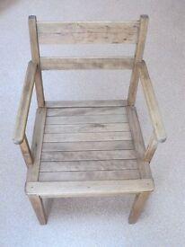 Vintage Wooden Garden or Indoor Armchair