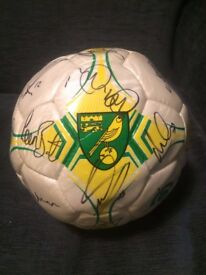 Signed Norwich City FC Football