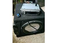 Car sub amp and radio