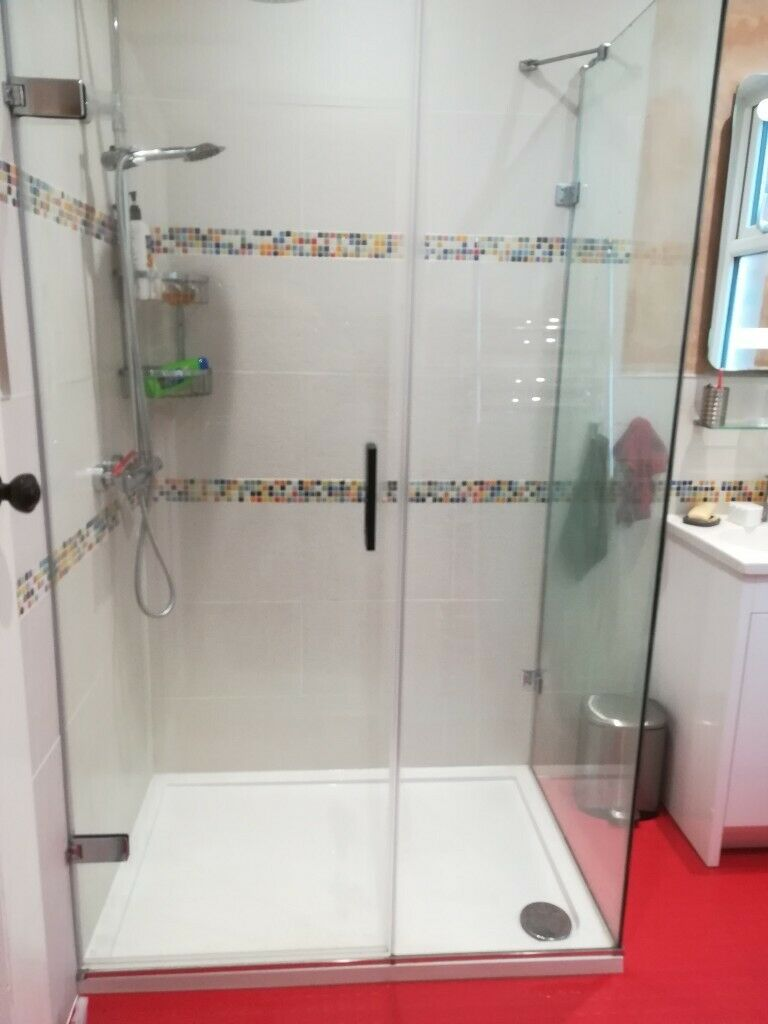 Shower Enclosure Frameless Corner Inline Panel Roman Liber8 1200x800 Inc Fitting Instructions In Sheffield South Yorkshire Gumtree