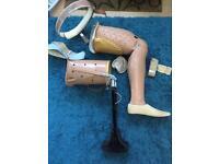 Vintage prosthetic legs world war 2